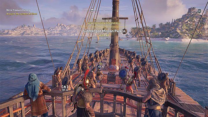 Во время пребывания в море вы можете решить покинуть палубу своего корабля, даже не дойдя до порта или другого интерактивного места - Assassins Creed Odyssey Guide