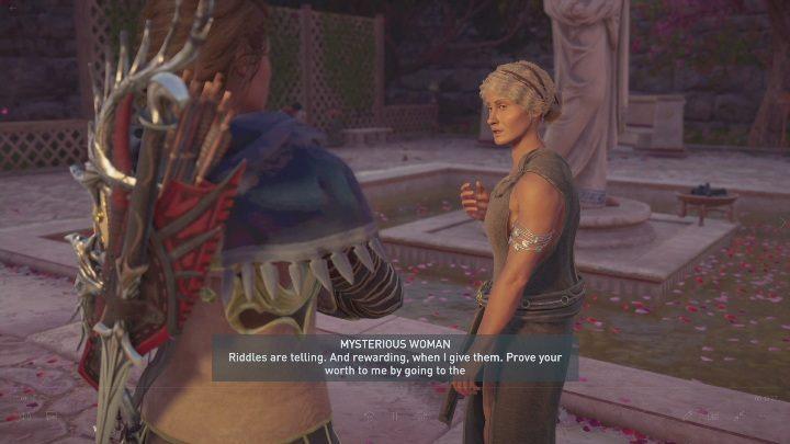 Чтобы начать миссию, вам нужно поговорить с таинственной женщиной - Божественное вмешательство - Побочные миссии в Assassins Creed Odyssey - Побочные миссии бесплатного DLC - Руководство по Assassins Creed Odyssey